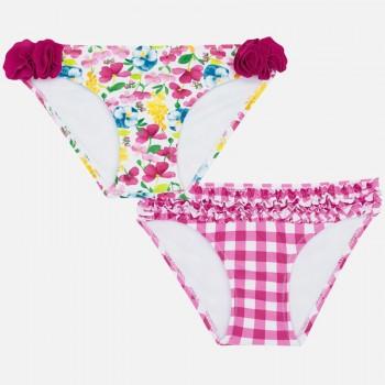 Culotte de bain à fleurs ou vichy rose