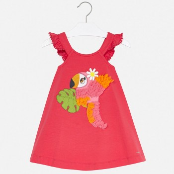 Robe pastèque broderie toucan