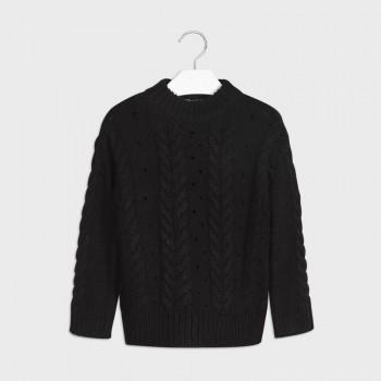 Pull tricot noir