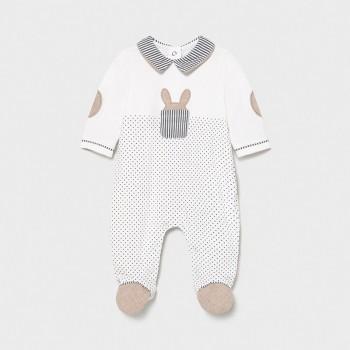 Pyjama à pois et lapin bébé...
