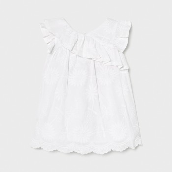Robe brodée blanche BB fille