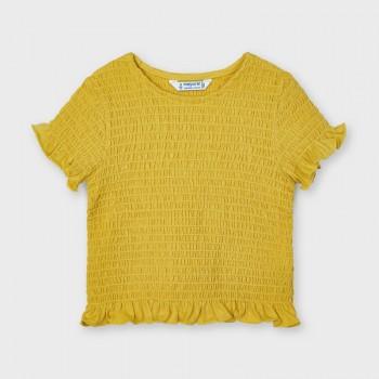 Tee Shirt smocké jaune