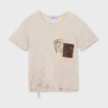 T-shirt avoine sequins...