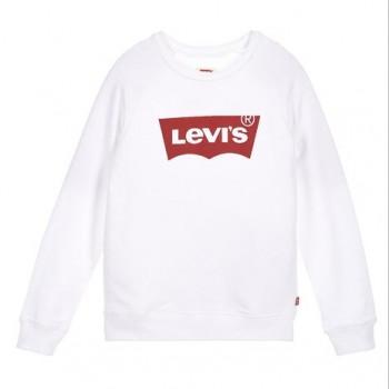 Sweat shirt blanc fille Levis