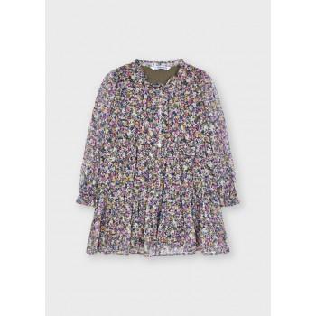 Robe imprimée lilas fille