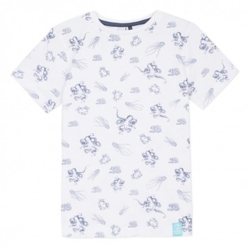 Tee Shirt Blanc Motifs Marins
