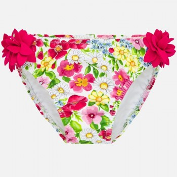 Culotte de Bain fleurs fuchsia