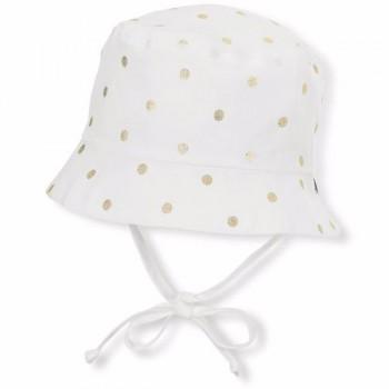 Chapeau Soleil Ecru Pois Dorés