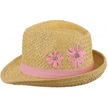 Chapeau De Paille Brodé Fleurs