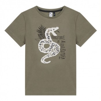 Tee Shirt Kaki Serpent