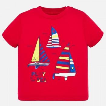Tee shirt Rouge Régate